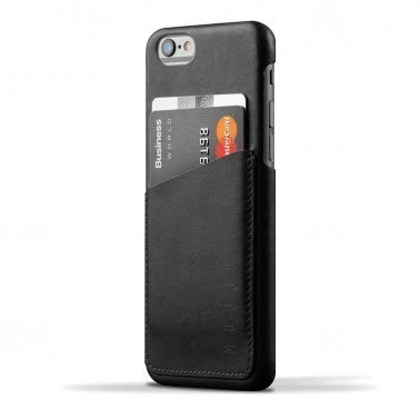 Mujjo Wallet Leren Case Iphone 6(s) Zwart