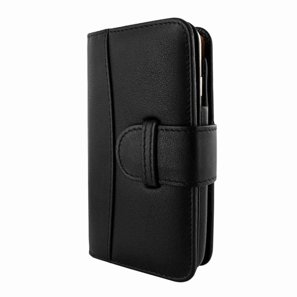 iPhone 6 Plus-6S Plus Piel Frama Lederen Portemonnee-Case Zwart