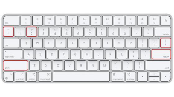 qwerty US keyboard